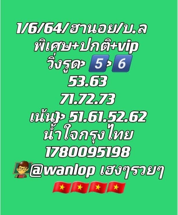 แนวทางหวยฮานอย1-6-64-วันนี้.com12