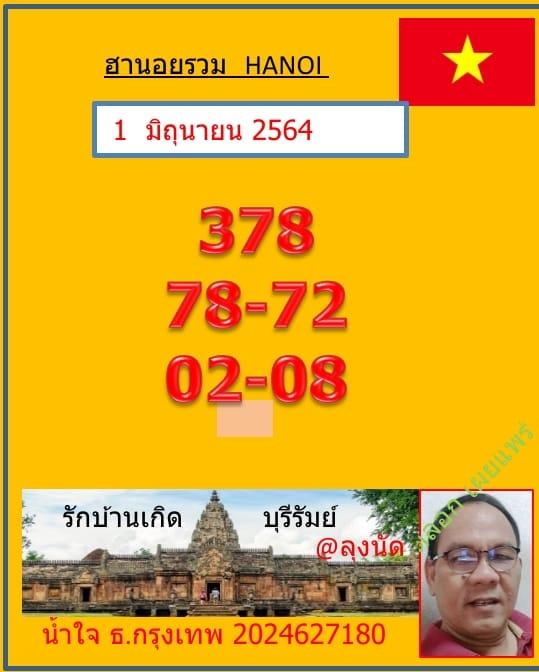 แนวทางหวยฮานอย1-6-64-วันนี้.com5