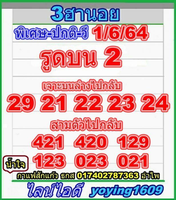 แนวทางหวยฮานอย1-6-64-วันนี้.com7