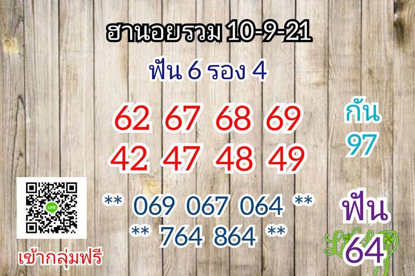 แนวทางหวยฮานอย10-9-64-วันนี้.com1
