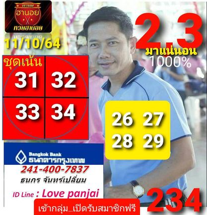 แนวทางหวยฮานอย11-10-64-วันนี้.com9