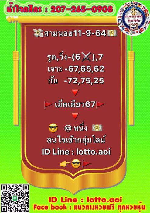 แนวทางหวยฮานอย11-9-64-วันนี้.com10