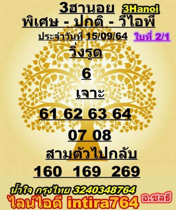 แนวทางหวยฮานอย15-9-64-วันนี้.com13
