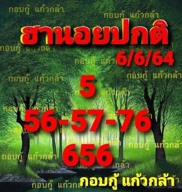 แนวทางหวยฮานอย6-6-64-วันนี้.com10