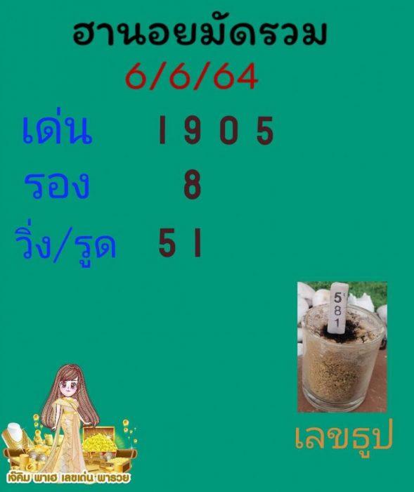 แนวทางหวยฮานอย6-6-64-วันนี้.com12