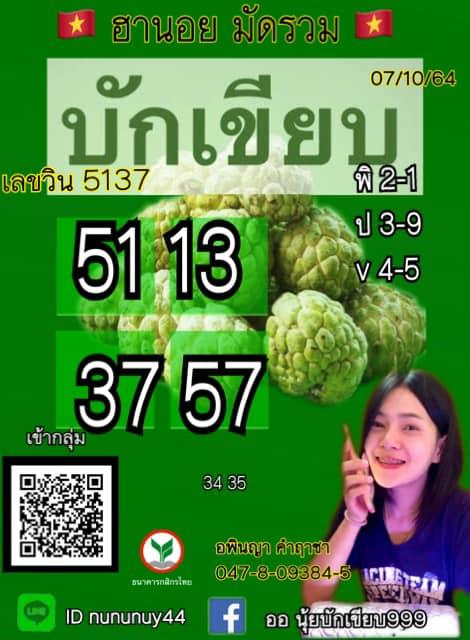 แนวทางหวยฮานอย7-10-64-วันนี้.com4
