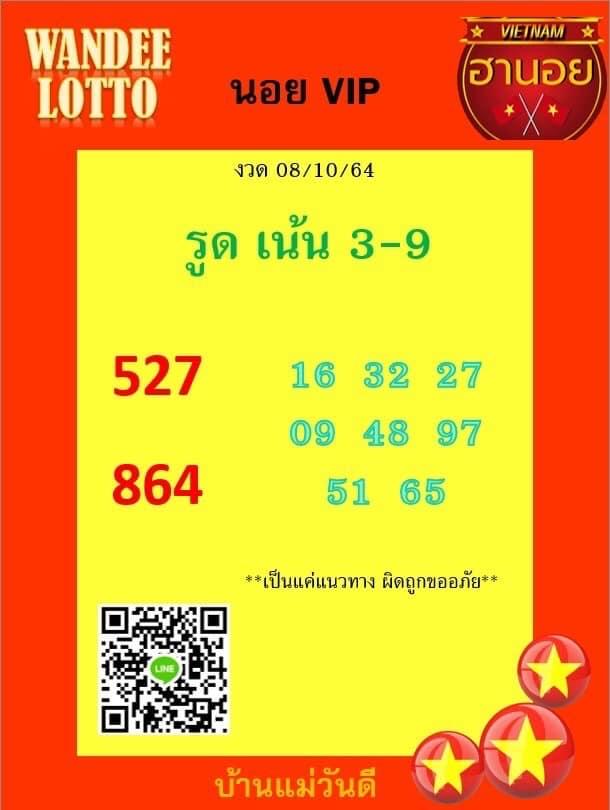 แนวทางหวยฮานอย8-10-64-วันนี้.com9