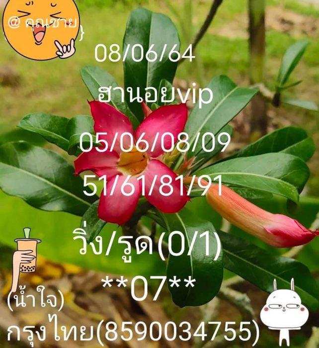 แนวทางหวยฮานอย8-6-64-วันนี้.com6