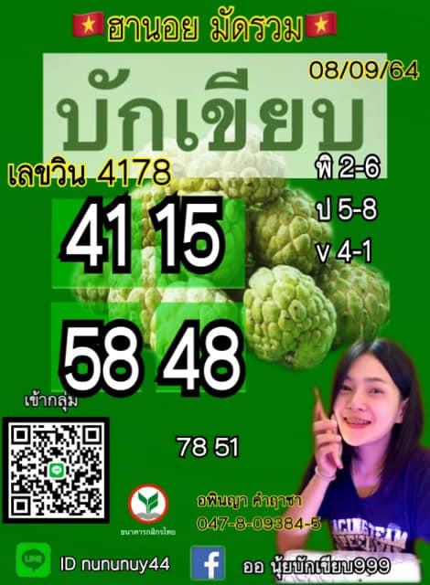 แนวทางหวยฮานอย8-9-64-วันนี้.com2