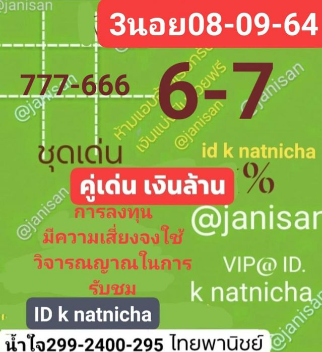แนวทางหวยฮานอย8-9-64-วันนี้.com6